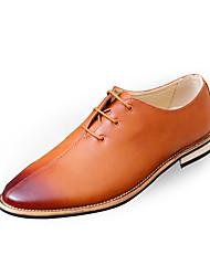 Men's Oxfords Spring / Fall Comfort PU Casual Flat Heel  Black / Brown / Red / Gray Sneaker