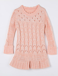 Girl's Casual/Daily Solid Sweater & Cardigan,Cotton Fall Pink