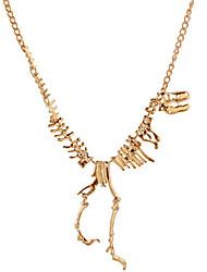 Europe Fashion Jewelry Gothic Tyrannosaurus Rex Skeleton Dinosaur Pendant Necklace Gold Chain Choker Necklace For Women