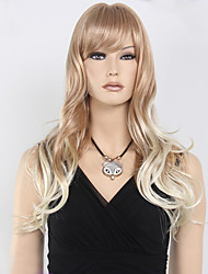Super Fashion Most Real Beautiful Black Root to Blonde Color Ombre Hair Synthetic Wig
