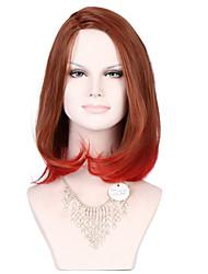 2016 Kinky прямая термостойкий синтетический полный шнурок парики дешевые волосы