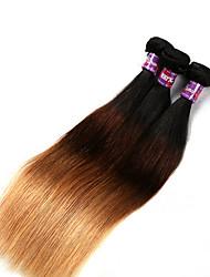 3 предмета Прямые Ткет человеческих волос Бразильские волосы Ткет человеческих волос Прямые