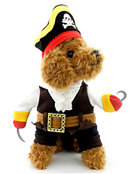 Cat / Dog Costume Pirate Cosplay Halloween Skull Black Dog Clothes Winter / Spring/Fall