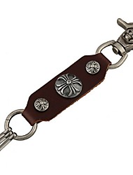 Japan And South Korea Popular Retro Key Buckle Leather Key Button
