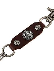 Key Chain / Key Chain Brown / Black PU Leather / Metal