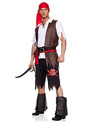 Costumes de Cosplay Costume de Soirée Pirate Fête / Célébration Déguisement d'Halloween Noir Couleur PleineHaut Pantalon Plus