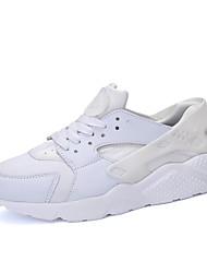 Homme-Sport-Noir Blanc Rouge noir-Talon Plat-Semelles Légères-Chaussures d'Athlétisme-Tissu