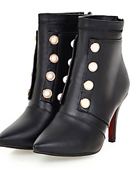 Women's Boots Spring / Fall / Winter Fashion Boots Leatherette Party & Evening / Casual Stiletto Heel Beading