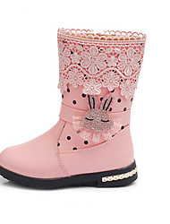 Girl's Boots Fall / Winter Snow Boots / Fashion Boots Leatherette Outdoor / Casual Flat Heel Zipper  Boots