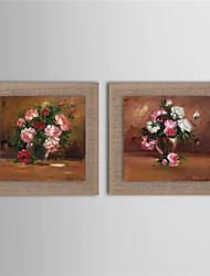 2 Panel Wall Art Pictures Oil Painting On Linen Home Decoration Abstract Flower Artwork Picture Decor Painting