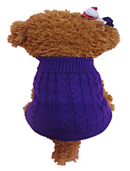 Holdhoney Dog Sweater Purple / Orange Dog Clothes Winter Flower Fashion #LT15050278