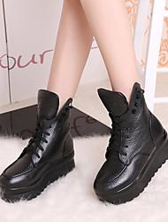 Women's Boots Winter Platform PU Casual Platform Others Black Other