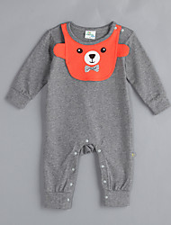 Girl's Casual/Daily Animal Print Overall & JumpsuitCotton Fall Gray