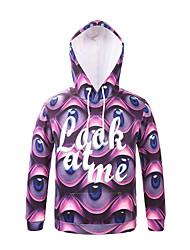 Inspired by 3D Monster Eyes Long Sleeve Hoodie Cosplay Hoodies Print Long Sleeve Coat Clothing Round Halloween