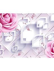 3d эффект нетканое большой настенной росписи обоев предупреждают цветы и трехмерные картины искусства декора стены обоев
