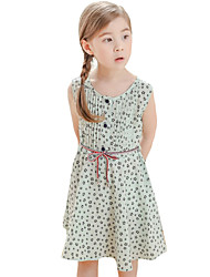 Girl's Casual/Daily Polka Dot DressPolyester Summer White