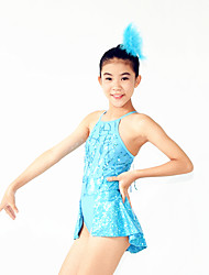 Jazz Unitards Women's / Children's Performance Spandex / Sequins / Split Front 2 Pieces Blue Jazz
