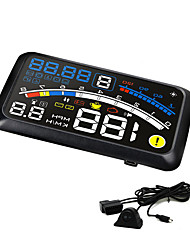5.5 Inch HUD Car Head Up Display OBD II EOBD Interface Car Styling Projector KM/h Fuel Display Speeding Warning System
