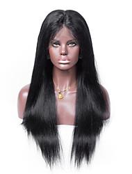 keine Verwicklung gerade menschliches Haar Schweizer Spitze 130% Dichte Menschenhaar volle Spitzeperücke kein Verschütten