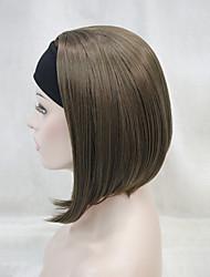 Mujer Pelucas sintéticas Sin Tapa Liso Liso Natural Marrón Oscuro Castaño Medium Golden Brown Castaño rojizo oscuro Negro La mitad de la