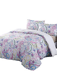 BeddingOutlet Violet Bedding Set Floral Mandala Bed Cover and Pillowcase Elegant Easy Care Queen Bedspread Multi Sizes