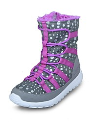 Brand Outlets Girl's Boots Fall / Winter Fashion Boots PU / Fabric Casual Flat Heel Gore  / Polka Dot Gray Snow Boots