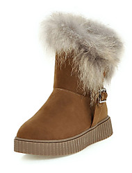 Women's Boots Fall / Winter Snow Boots Leatherette / Casual Platform Others Black / Yellow / Beige Snow Boots