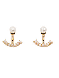 Fashion Women Pearl Set Front And Back Earrings(one earring two ways to wear)