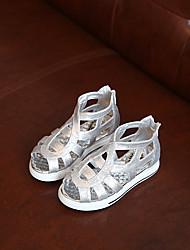 Girl's Sandals Summer Sandals / Open Toe Glitter Casual Flat Heel Sparkling Glitter Black / Silver Others