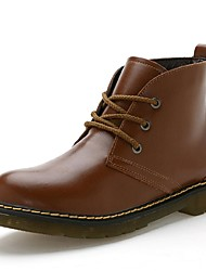 Men's Boots Fall / Winter Fashion Boots / Combat Boots Casual Flat Heel Lace-up Black / Yellow / Burgundy Others