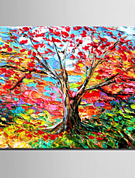 E-HOME® Stretched Canvas Art Color Tree Decoration Painting  One Pcs