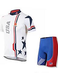 Sport Fahhrad/Radsport Kleidungs-Sets/Anzüge Herrn Kurze ÄrmelAtmungsaktiv / Rasche Trocknung / tragbar / 4D - Pad / Antirutsch /