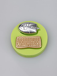 Mouse and keyboard shape candy fondant cake molds for the kitchen baking molds