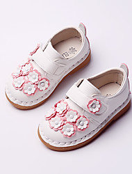 Girl's Flats Spring / Fall Flats PU Casual Flat Heel Flower Pink / Red / White Others