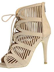 Women's Sandals Summer Heels / Peep Toe / Sandals Fabric Party & Evening / Dress / Casual Stiletto Heel Zipper /