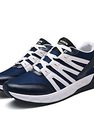 Men's Sneakers  Comfort / Round Toe / Closed Toe  Casual Flat Heel Lace-up Black / Blue / Gray