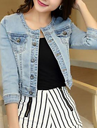 Women's Jackets , Casual Short Sleeve