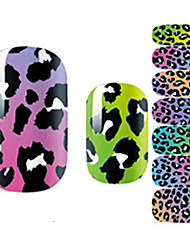 Fashion Charmming Leopard Lace Nail Decal Art Sticker Gel Polish Manicure Beautiful Girl