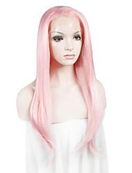 """imstyle 24 """"розовый синтетические шелковистые прямые кружева передние парики-П2"""