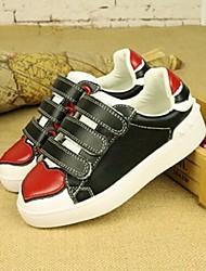 Unisex Sneakers Fall Leather Casual Flat Heel White Black Walking