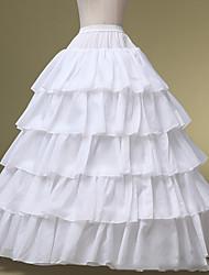 Unterhosen Abendkleid Wadenlänge 5 Polyester Weiß
