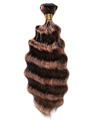 100g/pc Deep Wave 10-18Inch Color #P4/30 Brown Auburn Piano Human Hair Weaves