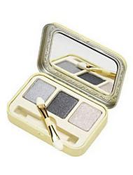 3 Paleta de Sombras Secos Paleta da sombra Pó Normal Maquiagem para o Dia A Dia