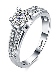 lureme 18kRPG  Cubic Zirconia Engagement Wedding Band Ring