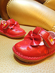 Girl's Flats Spring / Summer / Fall Flats Microfibre Outdoor Flat Heel Bowknot / Magic Tape Red / White Others
