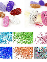 1000pcs/pack 1.2mm Tiny Flat Back Nail Art Rhinestones 12colors Nail Tips Decoration Tools