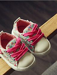 Unisex Sneakers Spring / Fall Comfort Canvas Casual Flat Heel  Green / Pink Sneaker