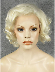 IMSTYLE 10Fahion Short MIx Blonde Curly Synthetic Hair Wig Lace Front Drag Queen