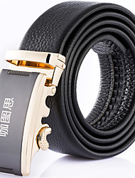 Katusi 7 New Mens Ratchet Belt Fashion Business Casual Style Genuine Leather 3.5cm Width kts7-3