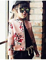 Mädchen Anzug & Blazer-Lässig/Alltäglich Druck Polyester Frühling / Herbst Rosa